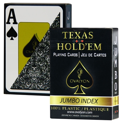 Picture of 11171 - Single deck / Ovalyon / Poker size / Jumbo index / Black