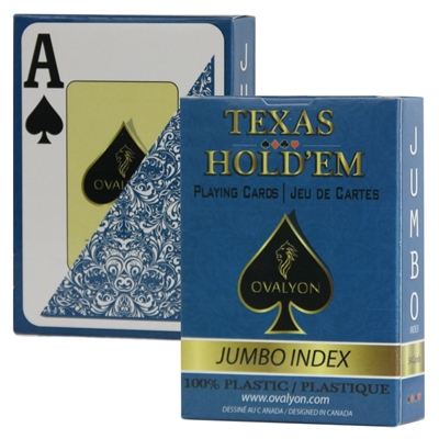 Picture of 11174 - Single deck / Ovalyon / Poker size / Jumbo index / BLUE