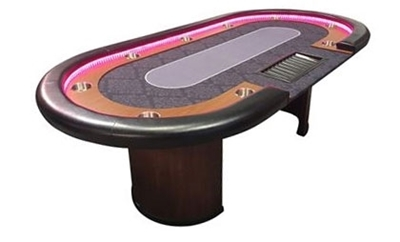 Image de Poker table LED with Dealer 96